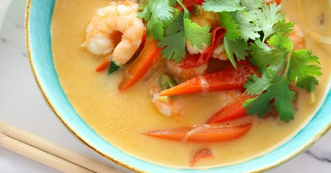Coconut Prawn Curry Recipe by The Wonky Spatula