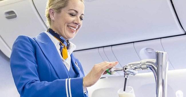 KLM Airlines Partnered with Heineken to Offer Beer on Draft During Flights