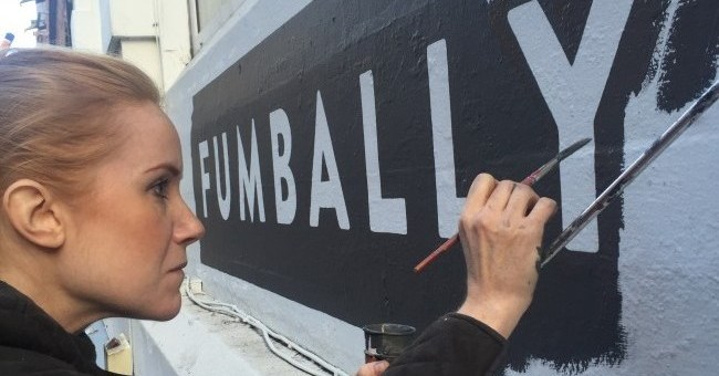 fumbally sign paining by Vanessa Powert