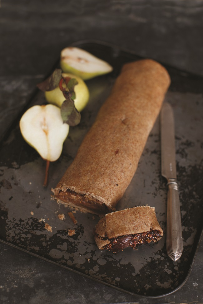 Fig and Pear Roll with Cardamon Recipe by Blazing Salads