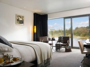 Deluxe bedroom at the Ice House Hotel in Ballina