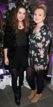 Niamh Devereux and Vicky Stokes at The Loop's Joy of Giving Christmas launch at The Crypt in Chirstchurch,Dublin. Picture Brian McEvoy No Repro fee for one use