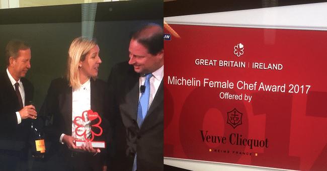 Clare Smyth Awarded Michelin Female Chef Award 2017