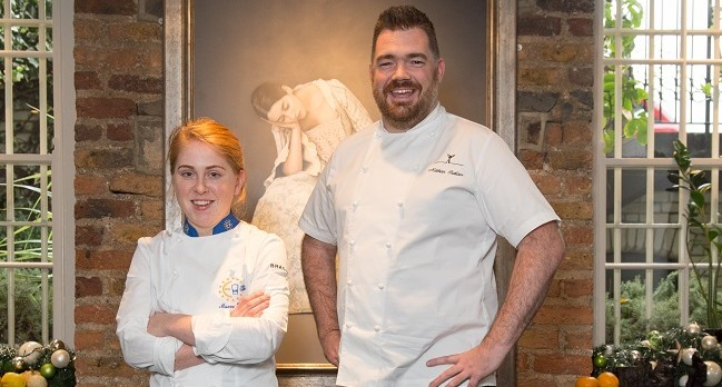 Eurotoques Young Chef of the Year 2016 Maeve Walsh and Nathan Outlaw