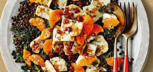 Warm Lentil, Halloumi and Clementine Salad Recipe from M&S