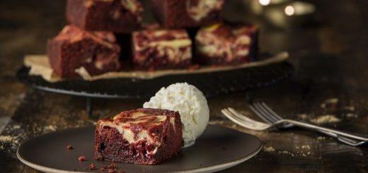 Siucra Red Velvet Swirled Chocolate Brownies recipe