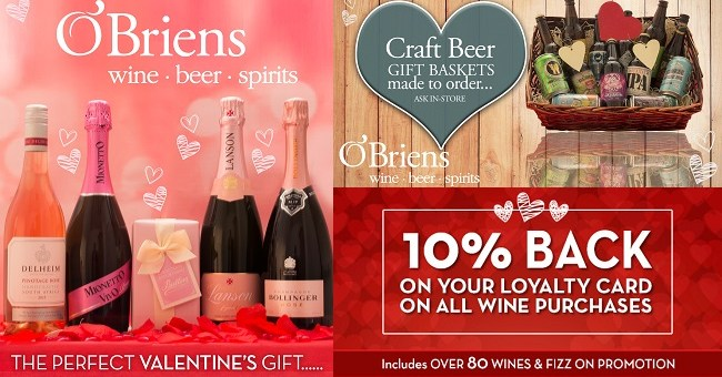 O'Briens Wine Valentine's Day Offers: Something for Everyone to Love