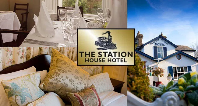 Enjoy a 2 night stay for 2 people with a 3 course evening meal, a carafe of wine, breakfast and late checkout at The Station House Hotel in Meath for €129