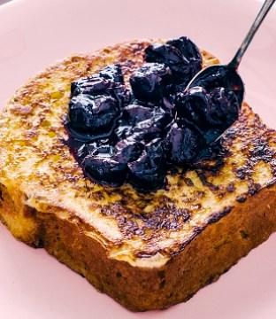 Brioche French Toast Recipe with Sour Cherry Compote