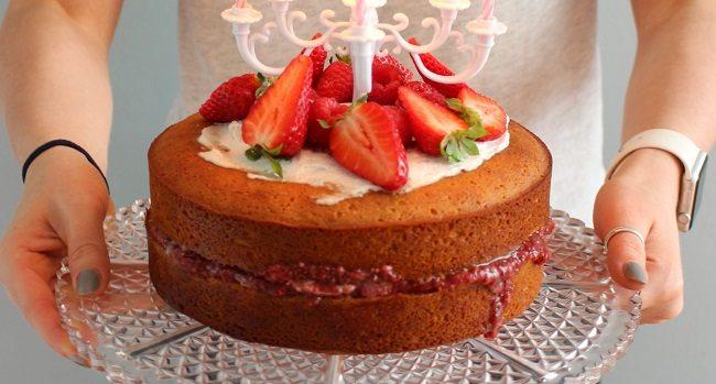 Healthy Victoria Sponge Cake Recipe from The Wonky Spatula