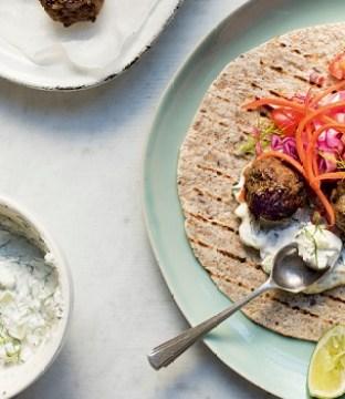 Greek Lamb Meatball Wraps Recipe with Tzatziki Sauce by Hazel Wallace