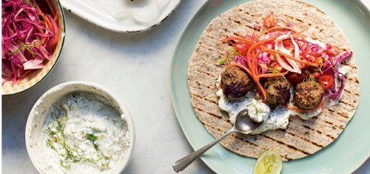 Lamb Meatball Wraps Recipe