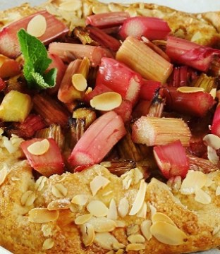 Rhubarb Galette Recipe with Ginger Frangipane from Chef Shane Smith