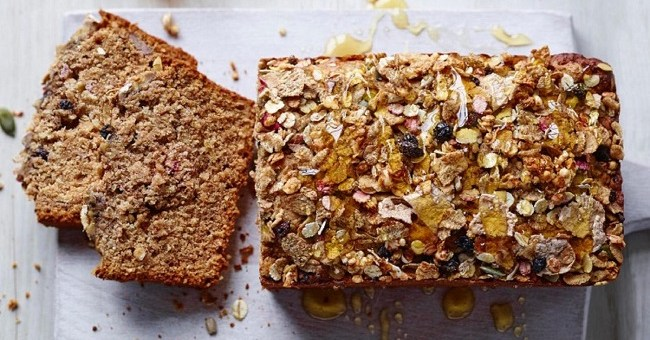 Breakfast banana bread recipe with a honey cereal topping thetaste banana bread recipe forumfinder Gallery