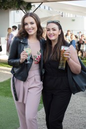 Holly Carpenter & Vicki Notaro pictured at the launch of The House of Peroni in Dublin. The House of Peroni is open to the public from 25th of May to 4th of June at 1 Dame Lane, showcasing the best of contemporary Italian food and drink. Over 18s only. For more info visit www.thehouseofperoni.com. Photo: Anthony Woods