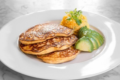 Oat Pancakes Egg and Avocado