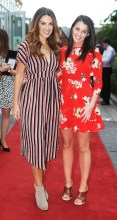 NO REPRO FEE 15/06/2017 La Dolce Vita at InterContinental Dublin Midsummer Party. Pictured last night wereAngela Frawley and Ali McKeever as over 300 invited guests gathered at the five-star InterContinental Dublin in Ballsbridge for a La Dolce Vita-themed midsummer garden party. Guests enjoyed a feast of Italian fare and sipped on refreshing Aperol Spritzes, Prosecco and Gunpowder Gin classic Negronis, as Swing band the Irish Rat Pack entertained the crowd with their jazzy big band numbers. A 1968 Alfa Romeo Spider even made an appearance to top off the La Dolce Vita experience! Photograph: Leon Farrell / Photocall Ireland