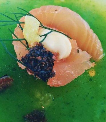 Marlfield House Dinner - Gin cured salmon