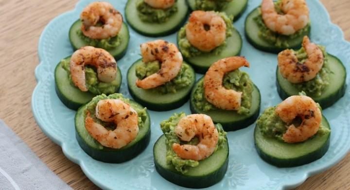 prawn and avocado bites recipe .