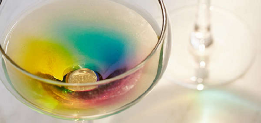 This Rainbow Wine Glass