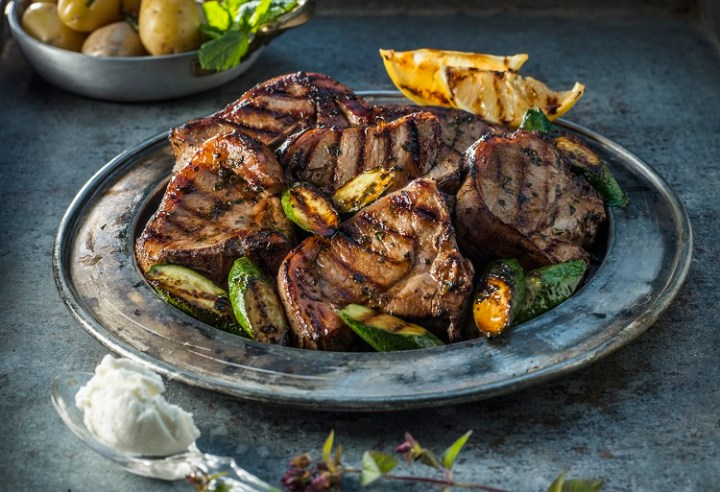 Griddled Connemara Hill Lamb Chops Recipe with Courgette and Lemon 1