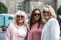 Lyn Brooks Jacqui Corcoran Viv Gaine from Dublin, at Slane Castle Co Meath. For the opening of the new Gandon Room Restaurant & Brownes Bar at Slane Castle . Photo: AllenKielyPhotography.com