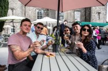 Bloggers, James Kavanagh, Paddy Smyth, Stefan Langan Jimmy Diego and Rebekah Hughes, from Dublin, at Slane Castle Co Meath. For the opening of the new Gandon Room Restaurant & Brownes Bar at Slane Castle . Photo: AllenKielyPhotography.com