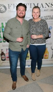 Thomas Crosse and Caitriona O Connor pictured at the Fentimans Botanical Cocktail Experience at the Opium Rooms,Dublin. Picture Brian McEvoy No Repro Fee