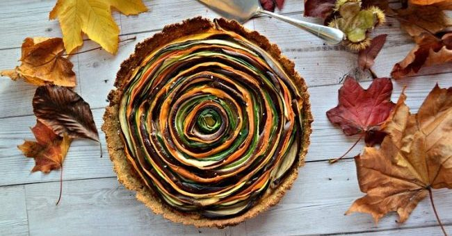 Vegetable Spiral Tart Recipe 4