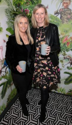 Karen McEvoy and Claire Hyland pictured at The Monkey Haus hosted by Alexander Stein Founder of Monkey 47 at The Wilde Merrion Square, Dublin.Pic Brian McEvoy