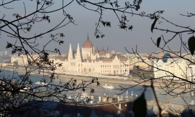 budapest view of parliament building