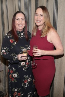 Linda Maher and Lisa Brady pictured at the Emirates Dubai Brunch at the Dean Hotel,Dublin. Pic Brian McEvoy No Repro fee