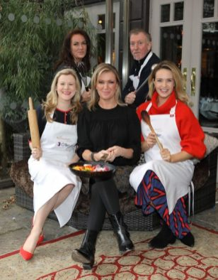 Brand new critic Rachel Allen (Front Centre) with Nuala Carey,Ciara Kelly, Paul Harrington, and Aoibhin Garrihy who were today revealed as this years celebrities who will be donning aprons for the brand new series of TV3s˜The Restaurant which will commence on the 21st February at 9pm Picture Brian McEvoy Photography No Repro fee for one use