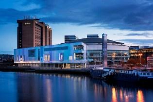 Belfast Waterfront nighttime