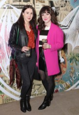 Helen O'Neill and Rachel Farrell pictured at the launch of BACARDÍ Cuatro and Ocho, which were officially introduced in true prohibition style last night at an exclusive speakeasy event off Camden Street. Pic: Marc O'Sullivan