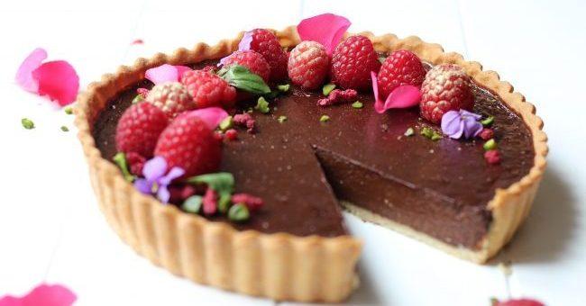 Dark Chocolate Raspberry Tart
