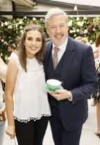 Sophie Fleming and Liam Campbell at the launch of Siúcra's new summer recipes by chef Catherine Fulvio held at the Woolen Mills Dublin.photo Kieran Harnett no repro fee