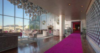 The g Hotel Grand Salon pink carpet