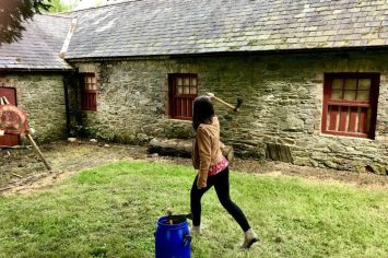 Axe Throwing at Castle Ward Northern Ireland