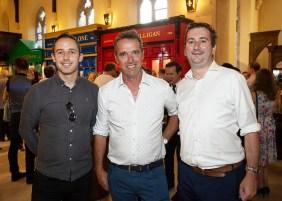 Paddy O'Dea, Irish Whiskey Association, Kevin Dundon, SuperValu brand ambassador and William Lavelle, Chairman Irish Whiskey Association