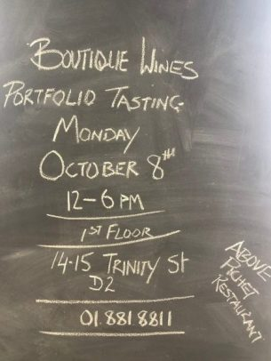Boutique wine tasting