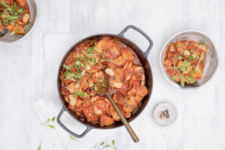 Sweet potato and butterbean stew