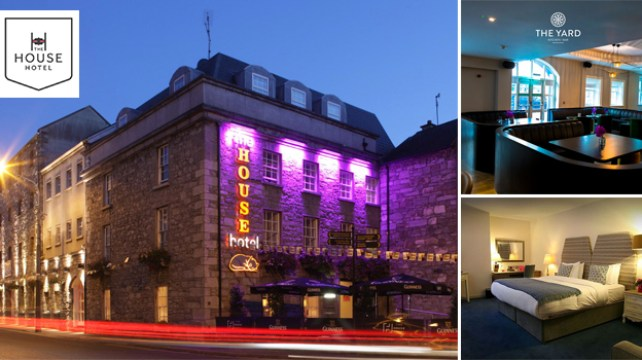 Win an Overnight Stay for Two in the 4 Star House Hotel Galway with Dinner in The Yard Kitchen/Bar
