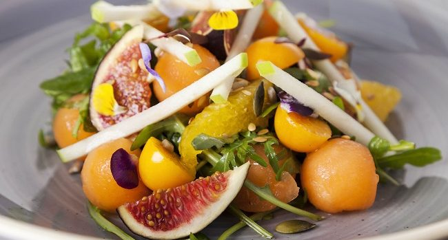 Fig & Apple Salad with Honey & Orange from Chef Igor at the gibson