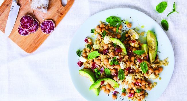 Chickpea And Freekeh Salad Recipe by Dr Paula Gilvarry