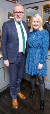 Damien OíReilly and Lorna Weightman pictured at Peploeís Birthday Celebrations at the restaurant on Stephenís Green,Dublin. Brian McEvoy Photography No Repro fee for one use