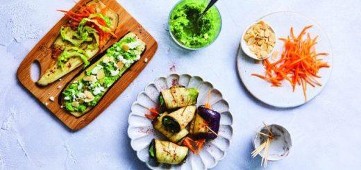 Roast Aubergine Rolls Recipe