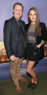 Enda Corneille and Roz Purcell pictured at the Emirates Christmas Down Under party at House in Leeson Street,Dublin. Pic Brian McEvoy No Repro fee for one use