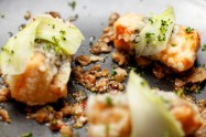 tempura of salmon
