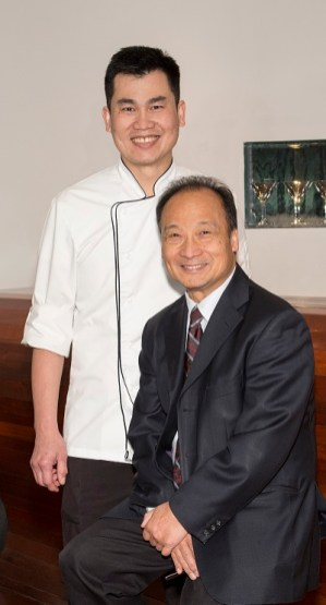 Chef Weng Wong and Tim Tang, owner of Eatzen